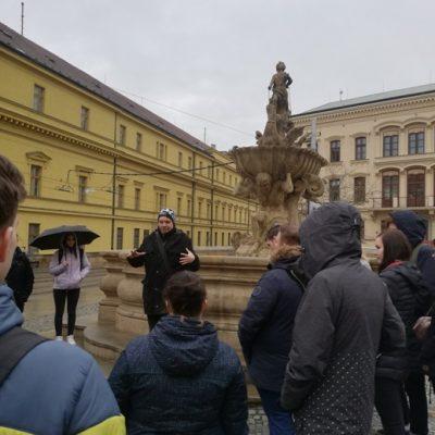 Olomouc v dešti