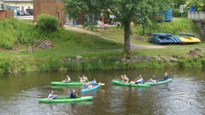 Vodácký kurz na Vltavě