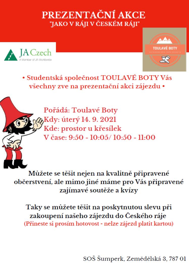 Propagační akce studentské společnosti Toulavé boty